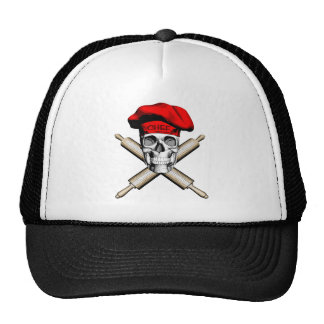Baker Skull and Rolling Pins: Red Hat
