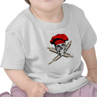 Baker Skull and Rolling Pins: Red Tees