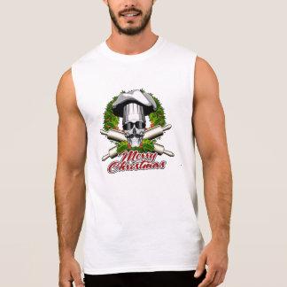 Baker Skull: Merry Christmas Sleeveless Shirt