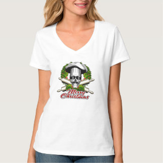 Baker Skull: Merry Christmas T-Shirt