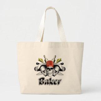 Baker Skull: Tools of the Trade Large Tote Bag