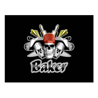 Baker Skull: Tools of the Trade Postcard