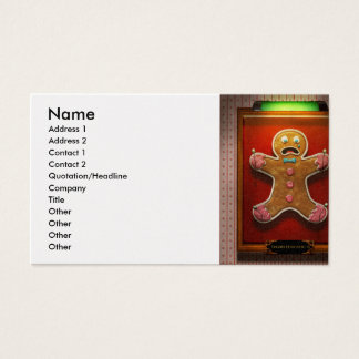 Baker - Specimen - Zingiber Homo erectus Business Card