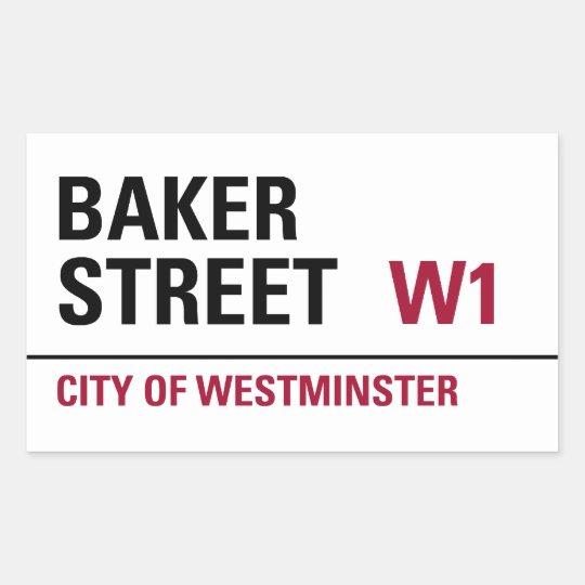 Baker Street London Sign (pack of 4) Rectangular Sticker