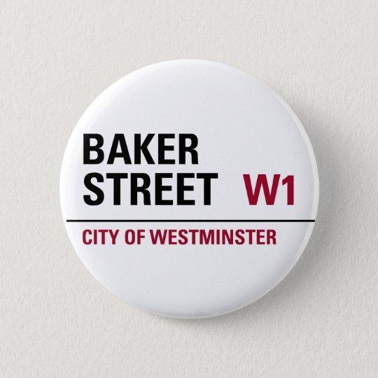 Baker Street Sign Pinback Button