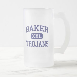 Baker Trojans Middle School Baker Montana Frosted Glass Beer Mug