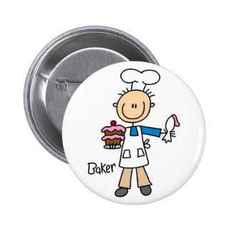 Baker With Cake Buttons