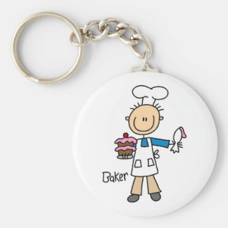 Baker With Cake Keychain