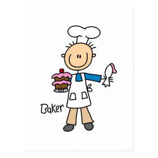 Baker With Cake Postcard