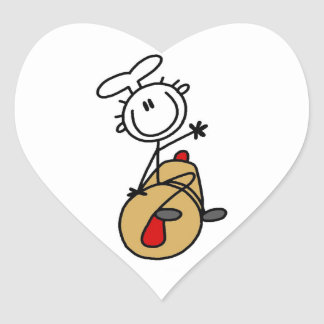 Baker With Rolling Pin Heart Sticker