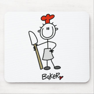 Baker With Scraper Mouse Pad