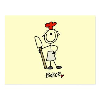 Baker With Scraper Postcard