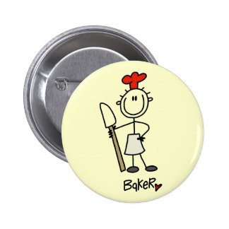 Baker with Scraper Tshirts and Gifts Pinback Button