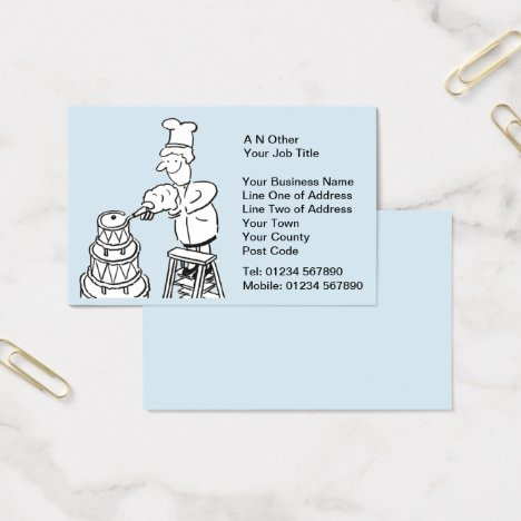 Bakers, Baking, & Cake Making Business Card