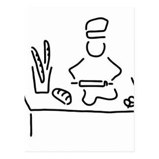 bakers bread bake postcard