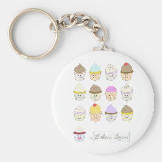 Baker's Dozen Basic Round Button Keychain