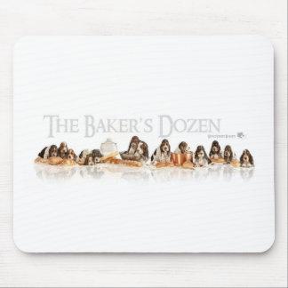 Bakers Dozen Basset Hound Puppies Mouse Pad