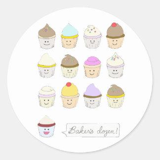 Baker's Dozen Classic Round Sticker