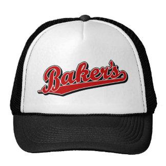 Baker's in Red Trucker Hat