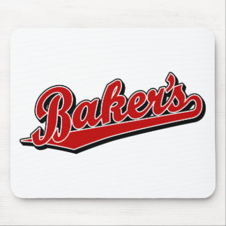 Baker's in Red Mouse Pad
