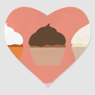Baker's Joy Collection: Cupcakes Heart Sticker