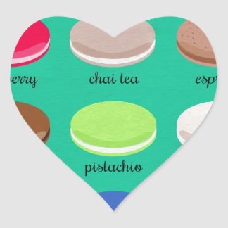 Baker's Joy Collection: French Macarons Heart Sticker