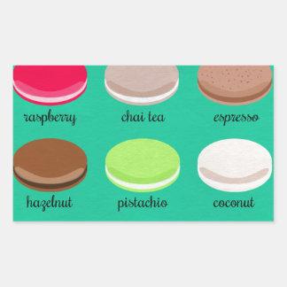 Baker's Joy Collection: French Macarons Rectangular Sticker