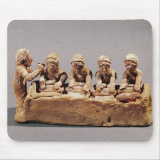 Bakers kneading dough at Thebes Mouse Pad