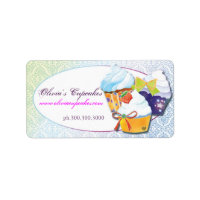 Bakers & Pastry Chefs Cupcake Business Labels label