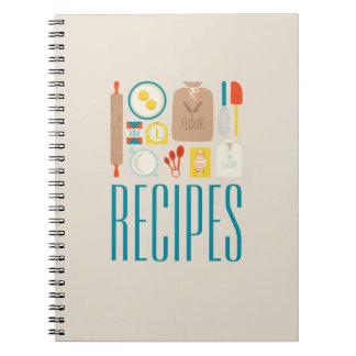Baker's Recipes Spiral Notebook