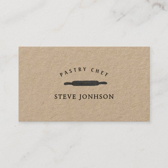 Bakers rolling pin professional modern minimalist business card bakers rolling pin professional modern minimalist business card reheart Images