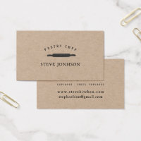 Bakers Rolling Pin Professional Modern Minimalist Business Card
