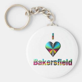 Bakersfield -- Blue Green & Burgundy Key Chain