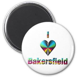 Bakersfield -- Blue Green & Burgundy Magnet