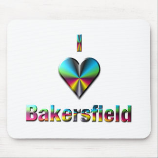 Bakersfield -- Blue Green & Burgundy Mouse Pad