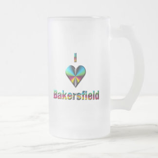Bakersfield -- Blue Green & Burgundy Mug