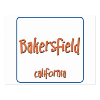 Bakersfield California BlueBox Postcard