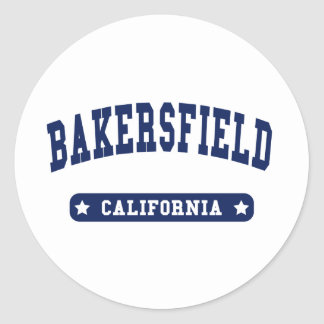Bakersfield California College Style t shirts Round Stickers