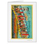 Bakersfield, California - Large Letter Scenes Card