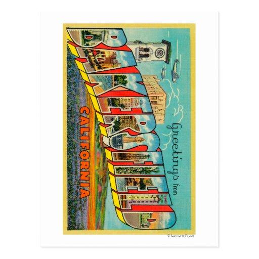 Bakersfield, California - Large Letter Scenes Postcard