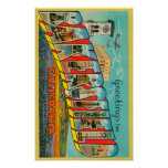 Bakersfield, California - Large Letter Scenes Poster