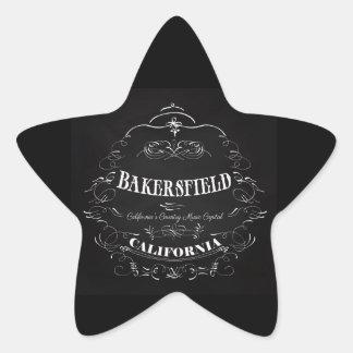 Bakersfield, California - Music Capital Star Sticker