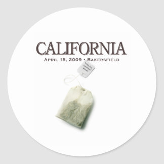 Bakersfield California Tea Party Classic Round Sticker