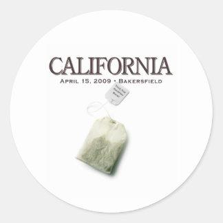 Bakersfield California Tea Party Classic Round Sticker