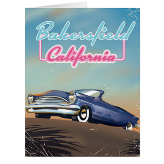 Bakersfield California travel poster Card