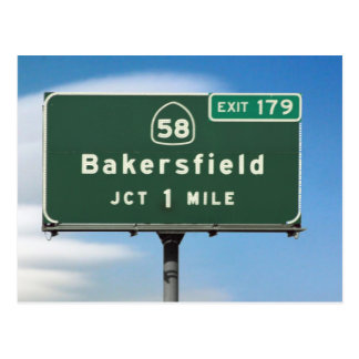 Bakersfield Exit Post Card