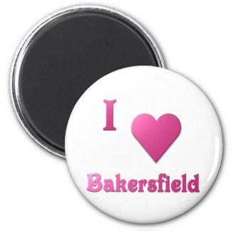 Bakersfield -- Hot Pink Fridge Magnet