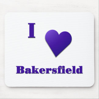 Bakersfield -- Midnight Blue Mousepad