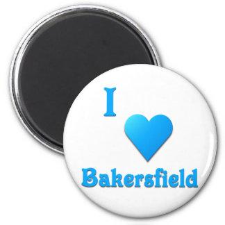 Bakersfield -- Sky Blue Refrigerator Magnet