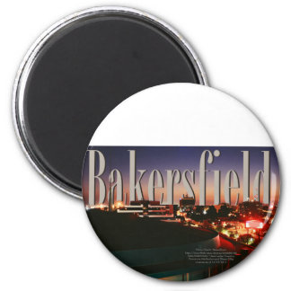 Bakersfield Skyline with Bakersfield in the Sky Magnet
